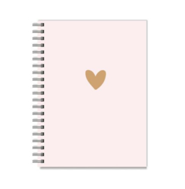 Notitieboek A5 | Stationery & Gift | Pink and Brown heart