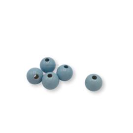 Gekleurde houten kraal - Babyblauw