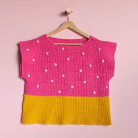 Yarn and Colors | Haakpakket | 'Baby you look fabulous' top