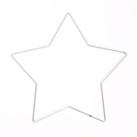 Metalen ster | 32 cm | Zilver/metaal