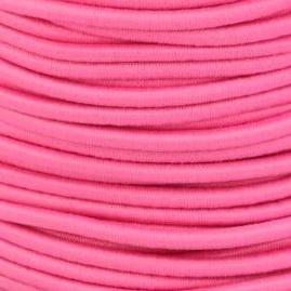Koordelastiek 3 mm - Roze