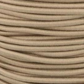Koordelastiek 3 mm - Taupe