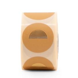 Stickers | Regenboog | Honing met goudfolie | 10 stuks