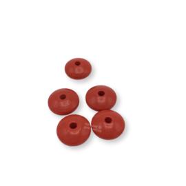 Gekleurde houten schijfkraal - Rood