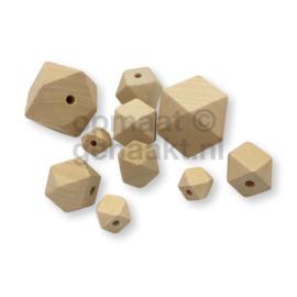 Blanke houten kralen | Hexagon | 18 mm