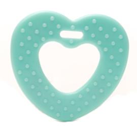 Bijtring siliconen hart met noppen | Durable | 2 stuks