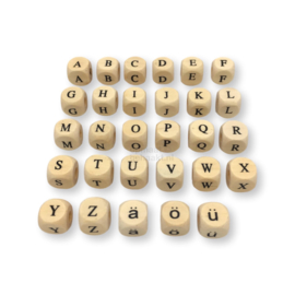 Houten letterkraal | 11 mm |  A