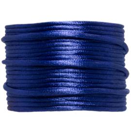 Satijnkoord marineblauw | 2 mm