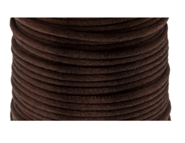 Satijnkoord bruin | 2 mm