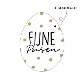 Stickers | Fijne Pasen | Wit/goud | 10 stuks