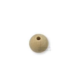 Blanke houten kralen | Rond | 25 mm