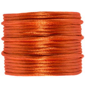 Satijnkoord oranje | 2 mm