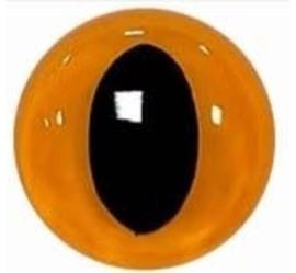 Veiligheidsoogjes | Poesjes | Geel gekleurd | 5 paar | 9 mm