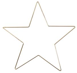 Metalen, goudkleurige ster