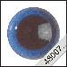 Veiligheidsoogjes | Rond | Blauw transparant | 5 paar | 6 mm