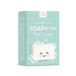 Blokje zeep | Studio Schatkist | Just a SOAPprise for you | Mintgroen