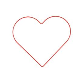 Metalen hart | 25 cm | Rood