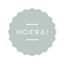 Stickers | Hoera! | Sage groen | 10 stuks