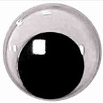 Beweegbare veiligheidsoogjes 12 mm | Rond zwart | 5 paar