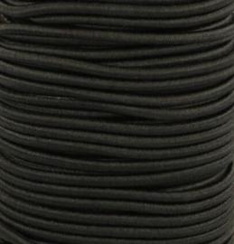 Koordelastiek 3 mm - Zwart