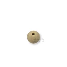Blanke houten kralen | Rond | 16 mm