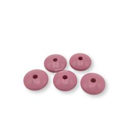 Gekleurde houten schijfkraal - Roze