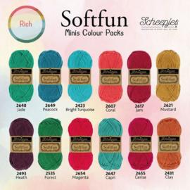 Scheepjes Softfun 20 gram Colourpack   12 kleuren   Rich