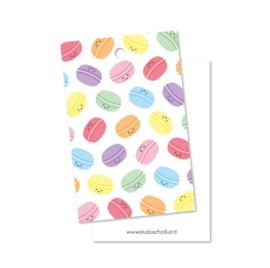 Cadeaulabel | Studio Schatkist | Patroon macarons