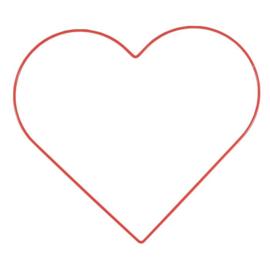 Metalen hart | 32 cm | Rood