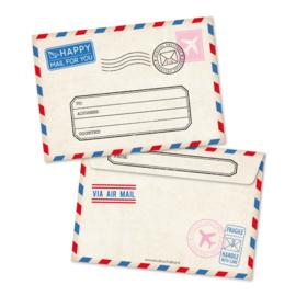 Envelop | Studio Schatkist | Rood, wit, blauw