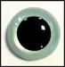 Veiligheidsoogjes | Rond | Blauw/groen pearl | 5 paar | 6 mm