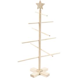 Houten Kerstboom | Gekruist met verschillende laagjes