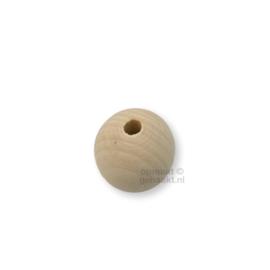 Blanke houten kralen | Rond | 30 mm