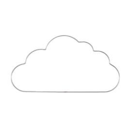 Metalen wolk | 32 cm | Zilver/metaal