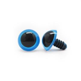 Veiligheidsoogjes | Rond | Blauw gekleurd | 8mm