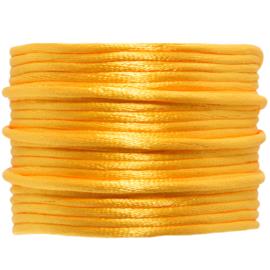 Satijnkoord geel | 2 mm