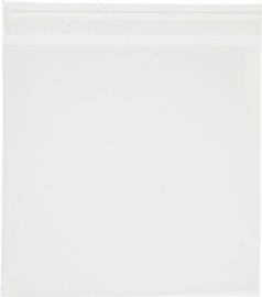 Transparante zakjes met plakstrip | 10 stuks | 13 x 13 cm