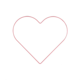 Metalen hart | 25 cm | Babyroze