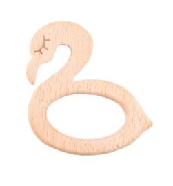 Houten bijtring zwaan / flamingo