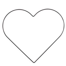 Metalen hart | 32 cm | Zwart