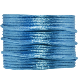 Satijnkoord middelblauw | 2 mm