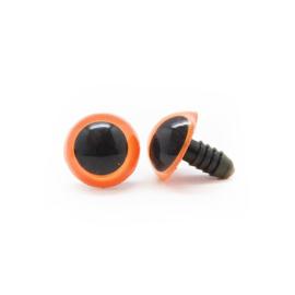 Veiligheidsoogjes | Rond | Oranje gekleurd | 8mm