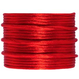 Satijnkoord rood | 2 mm