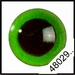 Veiligheidsoogjes | Rond | Groen transparant | 5 paar | 6 mm