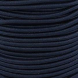 Koordelastiek 3 mm - Donkerblauw
