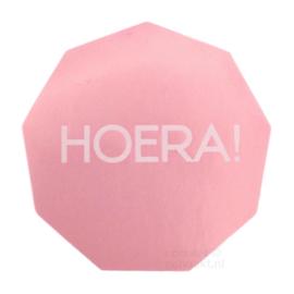 Stickers | Hoera! hoekig | Roze | 10 stuks