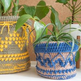 Yarn and Colors | Haakpakket | Boho Plant Baskets