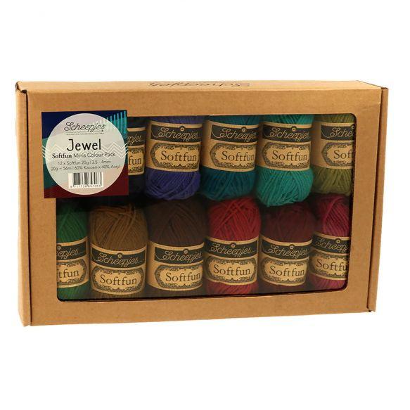 Scheepjes Softfun 20 gram Colourpack | 12 kleuren | Jewel