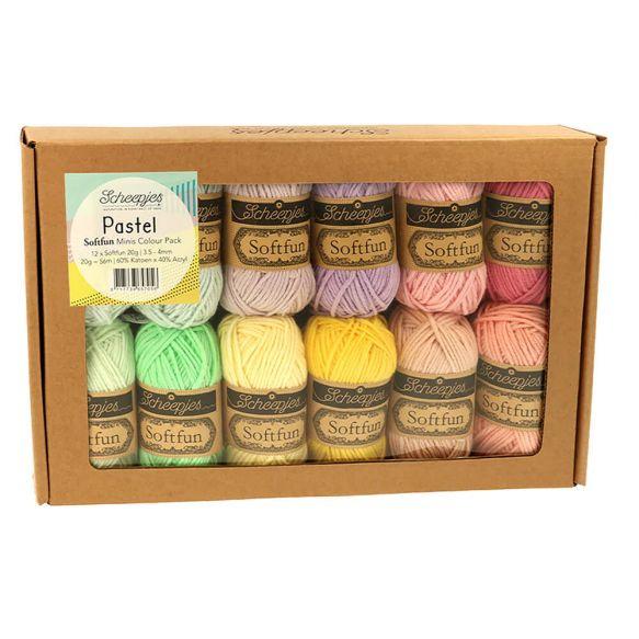 Scheepjes Softfun 20 gram Colourpack | 12 kleuren | Pastel