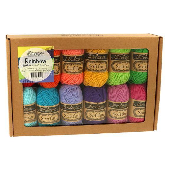 Scheepjes Softfun 20 gram Colourpack | 12 kleuren | Rainbow